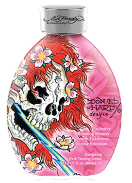Ed Hardy Ghost Skull Blushing Bronzer Tanning Lotion - 13.5 oz.