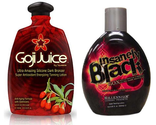 Goji Juice and Insanely Black Tanning Lotions