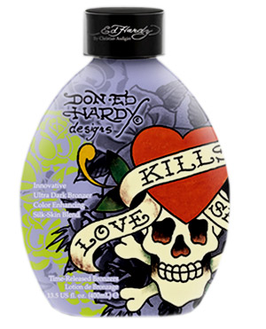Love Kills Slowly tanning lotion by Ed Hardy