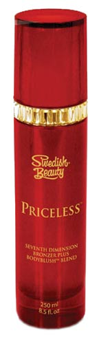 PRICELESS Bronzer Plus BodyBlush Tanning Lotion by Swedish Beauty