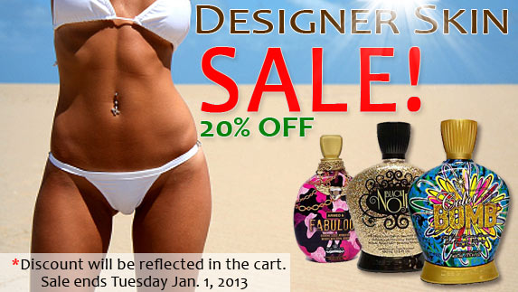 20% Off Designer Skin Tanning Products