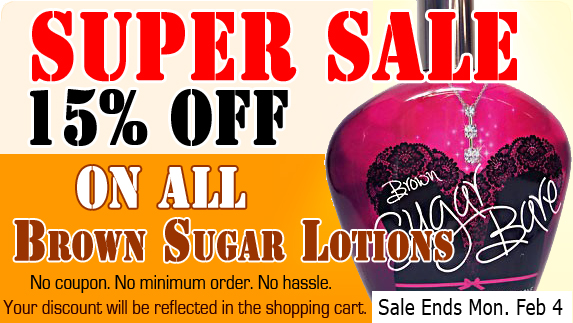 15% OFF Brown Sugar Tanning Lotion