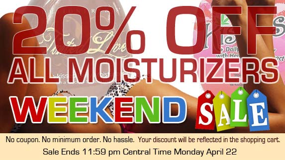 Moisturizer sale at TanForLess.com