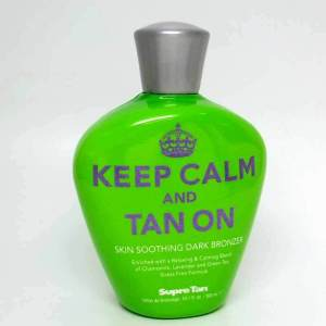 Supre KEEP CALM AND TAN ON Dark Bronzer