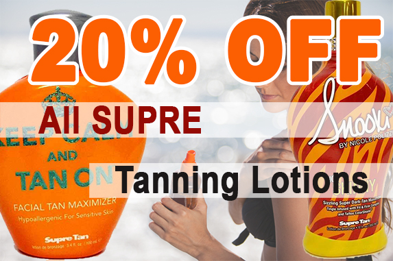 20% OFF Supre Tanning Lotions