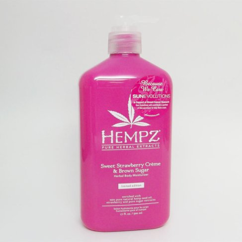 Hempz Sweet Strawberry Creme & Brown Sugar Herbal Body Moisturizer 17 oz.