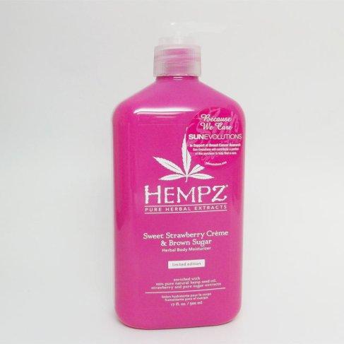 Hempz Sweet Strawberry Creme & Brown Sugar Herbal Body Moisturizer 17 oz.