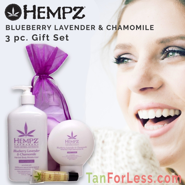 Hempz BLUEBERRY LAVENDER & CHAMOMILE GIFT SET - 3 pc.
